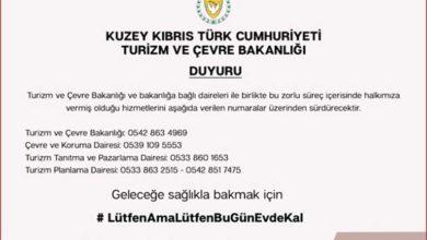 Photo of Turizm ve Çevre Bakanlığı'ndan duyuru