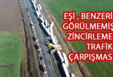 Photo of Bulgaristan'da 22 TIR birbirine girdi