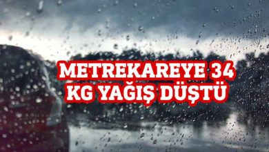 Photo of En fazla yağış Tatlısu'ya düştü