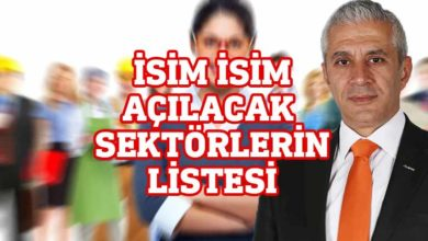 Photo of Hasan Taçoy 4 Mayıs'ta açılacak sektörleri açıkladı