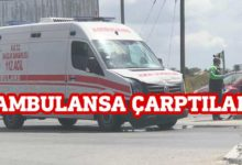 Photo of Trafik ışıklarında ambulansa çarptılar