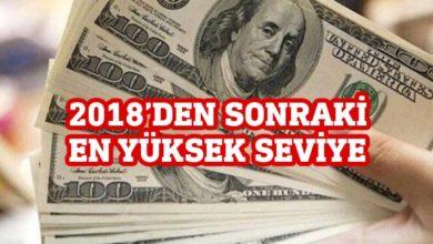 Photo of Dolar, 2018'den bu yana en yüksek seviyesinde
