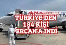 Photo of 184 kişi ve tıbbi malzemeler Ercan'da