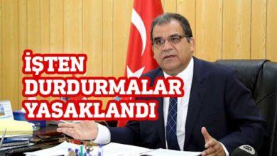 Photo of Faiz Sucuoğlu: İşten durdurma işleme alınmıyor