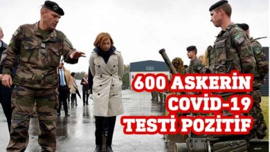 Photo of Fransa'da 600 askerin Covid-19 testi pozitif çıktı