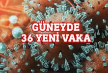 Photo of Güney'de 1 ölüm 36 yeni vaka