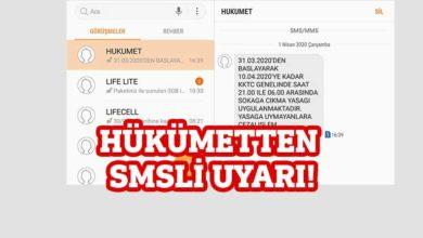 Photo of Hükümet SMS göndererek halkı uyardı