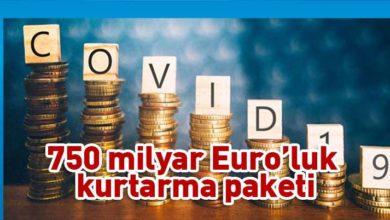 Photo of AB'den 750 milyar euroluk kurtarma paketi teklifi