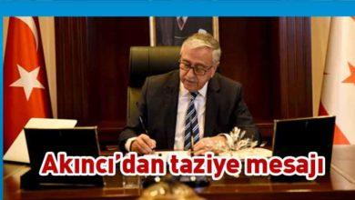 Photo of Cumhurbaşkanı Akıncı, başsağlığı mesajı ile üzüntülerini paylaştı