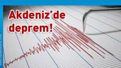 Photo of Akdeniz'de yine deprem!