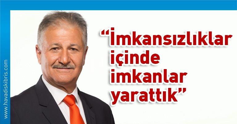 """""""Kuzey Kıbrıs Türk Cumhuriyeti'nde bu kadar az vaka görülmesi, verilen mücadele sonucudur. İmkansızlıklar içinde imkanlar yaratıp büyük bir başarı elde edilmiştir. Bu başarı hepimizin başarısıdır"""" dedi."""