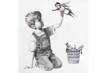 Photo of Banksy İngiltere'de bir hastaneye resim hediye etti