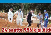 Photo of Brezilya'da Kovid-19'dan son 24 saatte 956 kişi yaşamını yitirdi