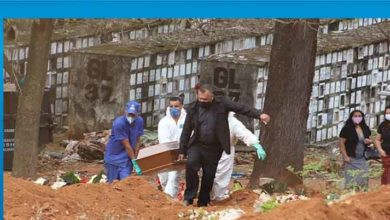 Photo of Brezilya'da Covid-19 nedeniyle son 24 saatte 1001 kişi hayatını kaybetti