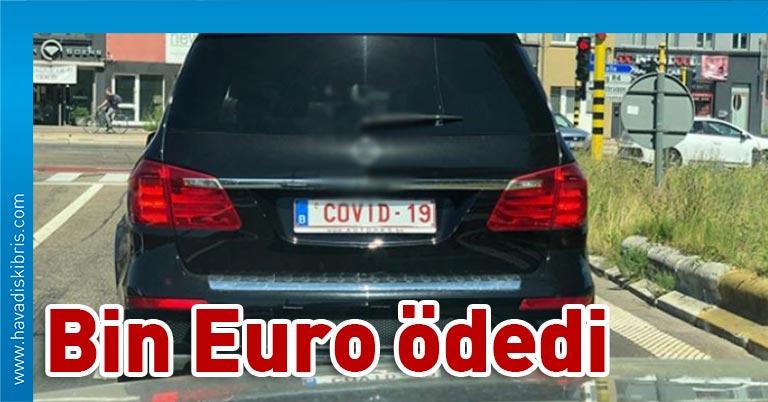 Yeni tipkoronavirüs salgınıhayatın her alanını etkilemeye devam ediyor. Brüksel'in Flaman bölgesinde bir sürücü bin euro ödeyerek, aracının plakasını 'Covid-19' yaptırdı.