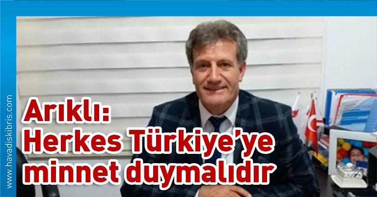 Yeniden Doğuş Partisi (YDP) Genel Başkanı Erhan Arıklı, bugün katıldığı bir televizyon programında, Türkiye'den gelecek yardımı değerlendirirken, bu paranın kimsenin tahmin etmediği büyüklükte bir para olduğunu söyledi