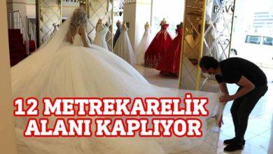 Photo of Diyarbakırlı tasarımcıdan sosyal mesafe gelinliği