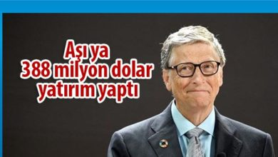 Photo of Bill Gates'ten aşı için 388 milyon dolar yatırım