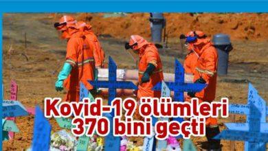 Photo of Kovid-19'dan ölenlerin sayısı dünya genelinde 370 bini geçti