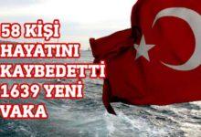 Photo of Türkiye'de 58 kişi hayatını kaybederken 1639 yeni vaka tespit edildi