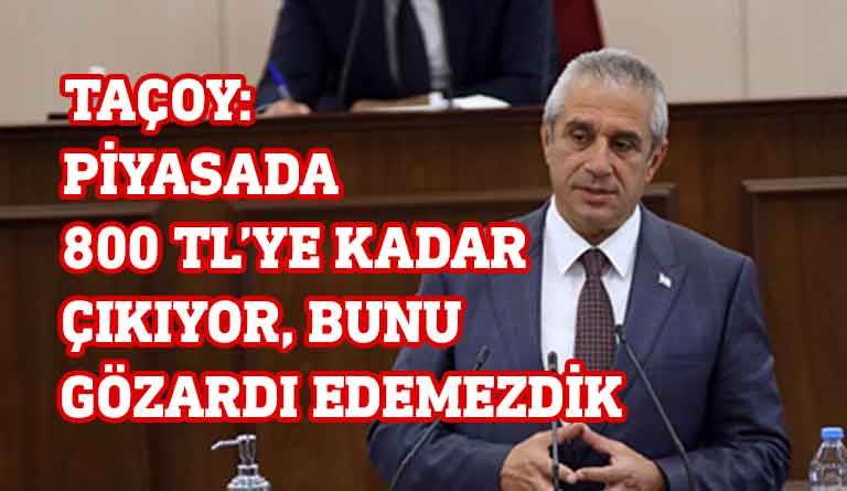 Ekonomi ve Enerji Bakanı Hasan Taçoy