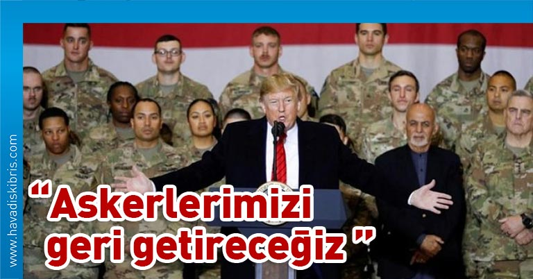 """ABD Başkanı Donald Trump, 26 Kasım'daki Şükran Günü'ne kadar Afganistan'daki askerlerin tamamının çekileceği iddialarına ilişkin, """"Oraya polislik yapmak için gitmedik ama 19 yıldır oradayız."""