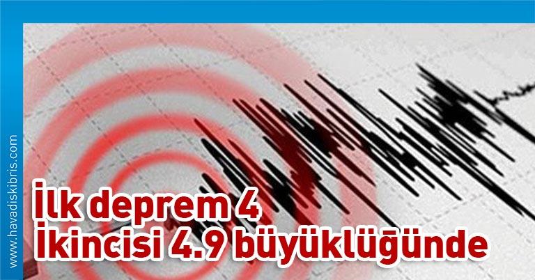 Afet ve Acil Durum Yönetimi Başkanlığından (AFAD) yapılan açıklamaya göre, Akdeniz'de saat 03.40'ta 4 büyüklüğünde deprem kaydedildi.