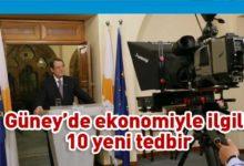 Photo of Anastasiadis ekonomiyle ilgili 10 yeni tedbir açıkladı