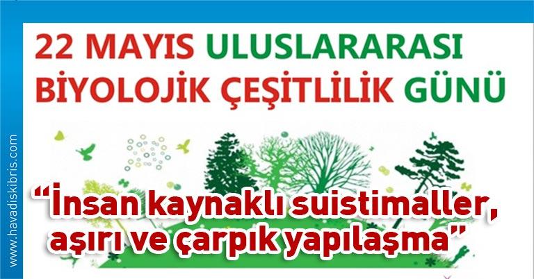 Sarpten, 22 Mayıs Uluslararası Biyolojik Çeşitlilik Günü dolayısıyla yayımladığı mesajda, Kıbrıs'ın bir ada ülkesi olmasına rağmen çok sayıda canlı türüne ev sahipliği yaptığını hatırlattı.