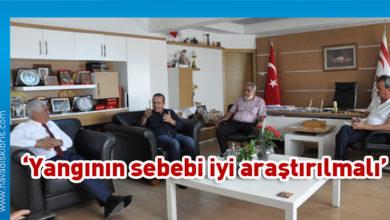 Photo of Ataoğlu Özçınar'ı makamında ziyaret etti