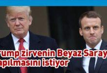 Photo of Trump ve Macron G-7 Liderler Zirvesi'nin yüz yüze yapılmasını istiyor