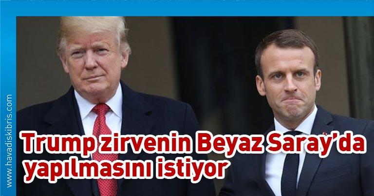 ABD Başkanı Donald Trump ile Fransa Cumhurbaşkanı Emmanuel Macron yaptıkları telefon görüşmesinde G-7 Liderler Zirvesi'nin yüz yüze yapılmasının önemini vurguladı