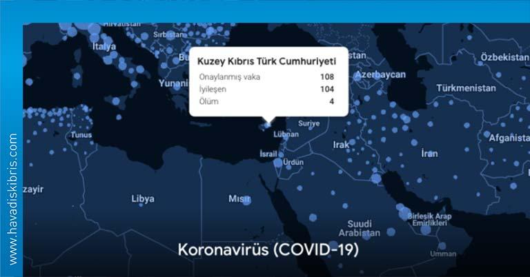 google covid-19 verileri kktc