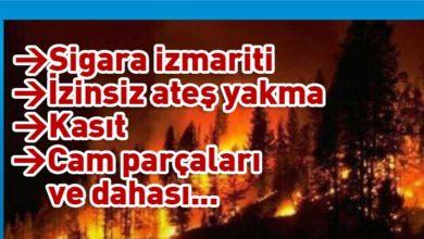 Photo of Ülkede son 24 saatte 18 yangın meydana geldi