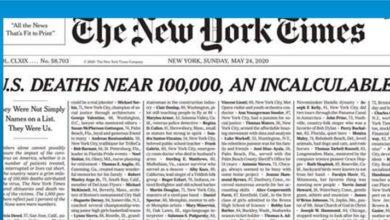 Photo of New York Times'tan corona kurbanlarına saygı sayfası