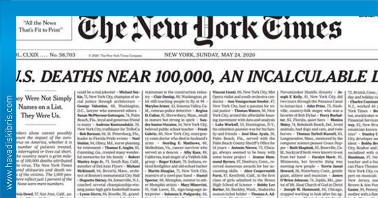 new york times saygı sayfası