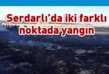 Photo of Serdarlı köyünde iki farklı noktada yangın
