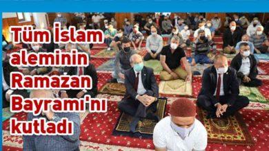 Photo of Başbakan Ersin Tatar bayram namazını Lefkoşa'daki Hz. Ebubekir Camii'nde kıldı