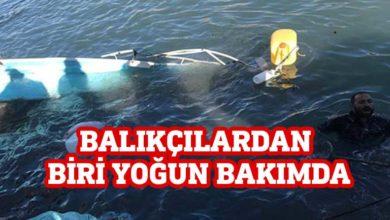 Photo of Lapta'da 4 balıkçının içinde bulunduğu tekne alabora oldu