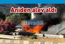 Photo of Boğaz'da araç yangını