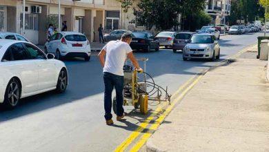Photo of Gazimağusa Belediyesi yol çizim çalışmalarına başladı