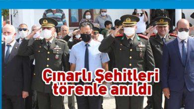 Photo of Çınarlı Şehitleri anıldı
