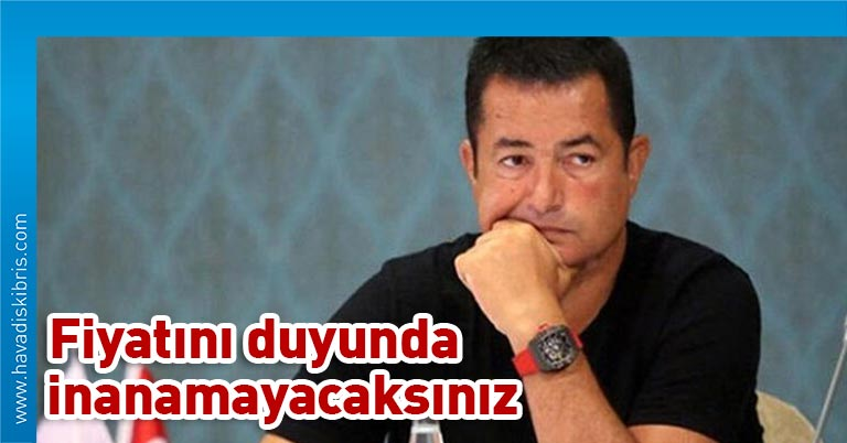Motosiklet ve siyah tişörtlere olan ilgisiyle bilinen TV8 ve Acun Medya'nın patronu Acun Ilıcalı'nın, uzun süredir kolundan çıkarmadığı saatinin değeri ortaya çıktı