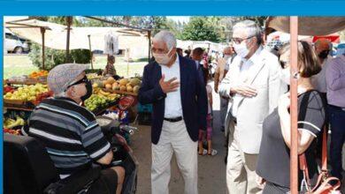Photo of Akıncı Güzelyurt Açık Pazarında esnaf ve yurttaşlarla bir araya geldi