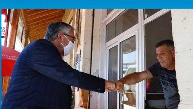 Photo of Akıncı Lefke'de vatandaşlarla buluştu