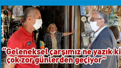 Photo of Akıncı, Harmancı ile birlikte Arasta esnafını ziyaret etti