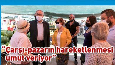 Photo of Akıncı, İskele'de yurttaş ve esnafla buluştu