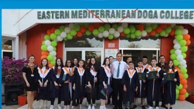 Photo of Doğu Akdeniz Doğa Koleji öğrencileri diplomalarını aldı