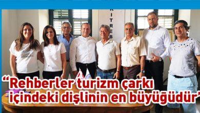 Photo of Ataoğlu, Kıbrıs Türk Rehberler Birliği'ni ziyaret etti