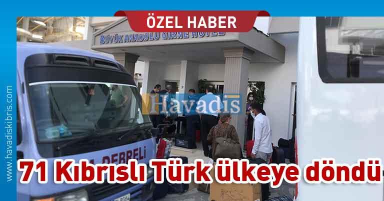 Kıbrıslı Türkler ülkeye döndü